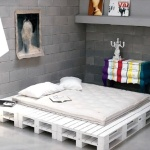White Pallet Bed Frame