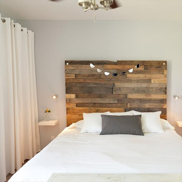 Decorate Your Bed Affordably With DIY Pallet Headboard