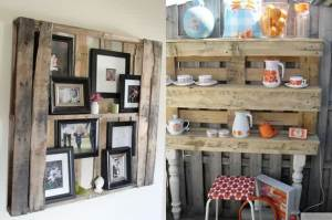 Pallet Bedroom Shelves