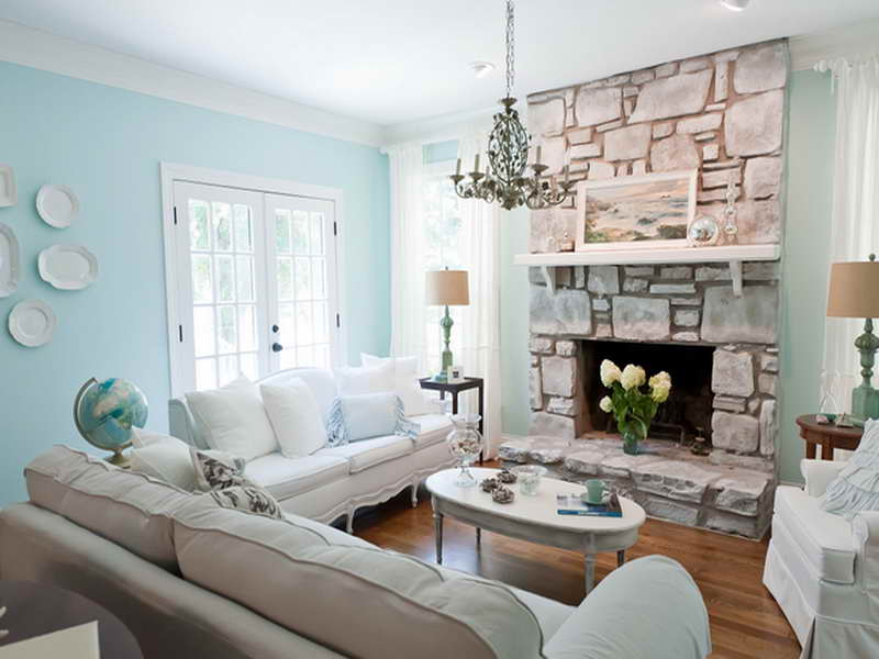 Coastal Family Renovation Beach Style Living Room Orange