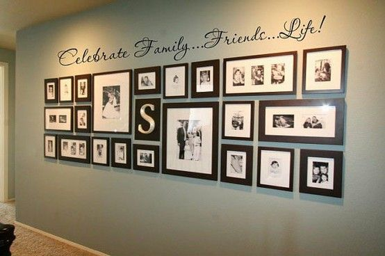 Photo Display with Vinyl Word Art