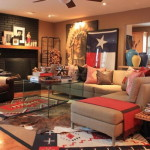 Spacious and Lively Living Room