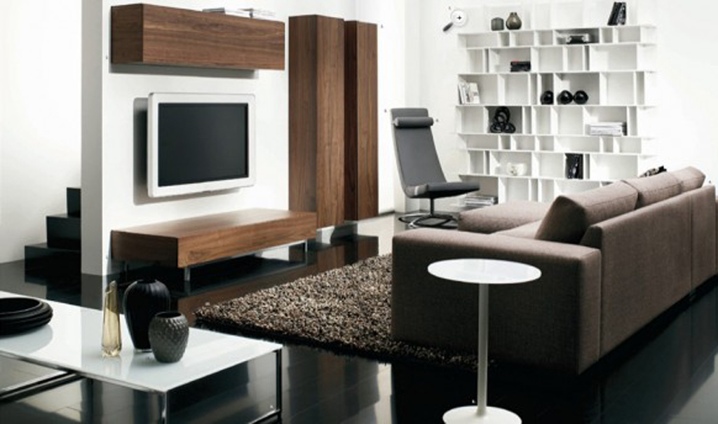 Simple furniture ideas for modern living room decor in mostly darker color ideas